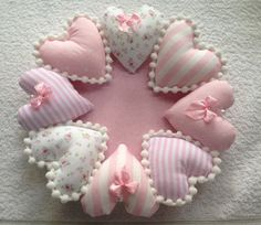 65 Easy DIY Fabric Crafts Ideas You'll Love - diy projects Diy Crafts List, Diy And Crafts, Sewing Art, Sewing Crafts, Sewing Hacks, Fabric Hearts, Baby Sewing Projects, Heart Crafts, Valentine Crafts