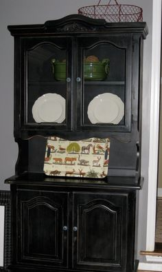 China Cabinet Re Finished By Coastal Shabby Treasures