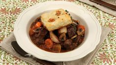 Made this for dinner tonight. Beef Stew With Cheese Biscuits Meat Recipes, Seafood Recipes, Yummy Recipes, Recipies, Cooking Recipes, Healthy Recipes, 12 Recipe, Recipe Ideas, Cheese Biscuits