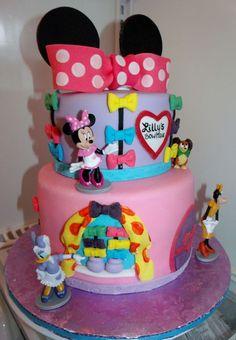 Tortas Minnie y Mickey Mouse Torta Minnie Mouse, Mickey And Minnie Cake, Minnie Mouse Birthday Cakes, Minnie Bow, Minnie Mouse Party, Kid Birthday Cakes, 2nd Birthday, Mickey Party, Birthday Ideas