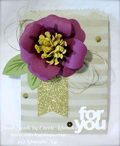 January 21, 2015 Carrie Stamps: Bouquet Bigz L Die Color Challenge Mini Treat Bag Thinlits Dies