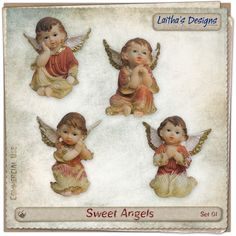 Sweet Angels Set 01 Christmas In July, Angels, Teddy Bear, Toys, Sweet, Toy, Games, Angel