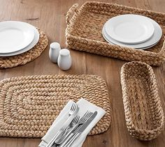 Shop Pottery Barn for stylish serveware. Browse our serveware collections and find bowls, platters and serving utensils, perfect for entertaining. Sisal, Serveware, Tableware, Jute Crafts, Wicker Tray, Water Hyacinth, Table Accessories, Kitchen Accessories, Serving Platters