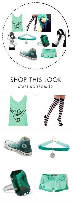 Emo- Turquoise by whitenoiseiswatching on Polyvore featuring Hollister Co., Converse, Balenciaga and Chicas Fashion