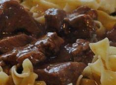 Crockpot Beef Tips & Gravy Recipe. This recipe is a keeper!