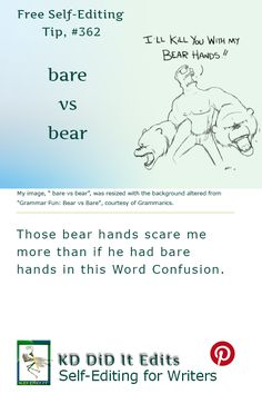 A Word Confusion post for writers who bare all as they bear the burden of…