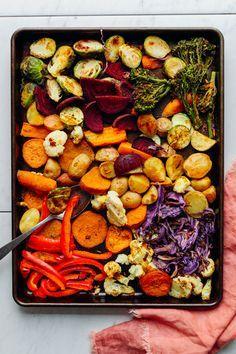 DELICIOUS Oil-Free Roasted Vegetables! 30 minutes, simple method, SO healthy and satisfying #vegan #vegetables #plantbased #brocolli #oilfree #potato #glutenfree