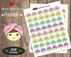 Spa Planner Stickers, Printable Hair Stickers, Hair Mask, Spa Girl, Facial, Erin Condren, Life Planner, Print & Cut, Functional Stickers by Ichiprintables