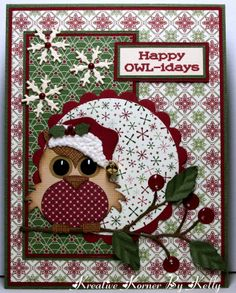 Christmas card … luv the woodsy winter print papers … focal point owl is way… – Christmas DIY Holiday Cards Homemade Christmas Cards, Christmas Cards To Make, Christmas Paper, Christmas Owls, Xmas Cards, Homemade Cards, Handmade Christmas, Holiday Cards, Christmas Crafts