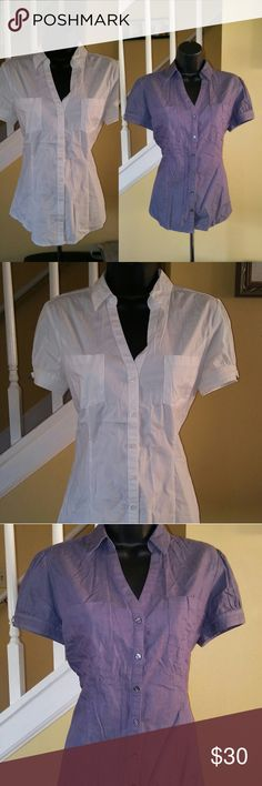 Lot of 2 Size Medium Express Tops Button Down Excellent Condition.  If you have any questions please feel free to message!   Reasonable offers will be entertained....just use the offer button.   Check out my girlfriend's closet for more great clothing at worthy0405 ! Thank you! Express Tops Button Down Shirts