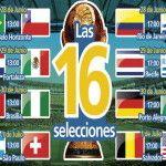 Brasil 2014: Los cruces de octavos de final del mundial