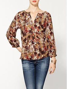 Sabine Painterly Printed Blouse | Piperlime $40