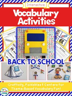 Back to School Vocabulary: Interactive Speech Therapy Activities by teachingtalking.com