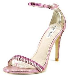 Steve Madden Steve Madden Stecy Women Open Toe Synthetic Pink Sandals  cb02e2418d9a