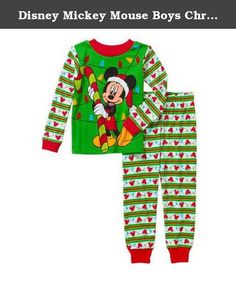 a38bd37dae Disney Mickey Mouse Boys Christmas Holiday Baby Toddler Girls Pajamas  (18m). disney mickey