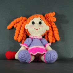 Knitted doll toy for children  Нand made  Soft toy  by KNartDesign