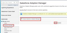 Salesforce Adoption Manager -  Quickly turn your mobile employees into Salesforce1 power users with SalesforceAdoption Manager. This tool trains and engages your users with intelligent email journeys aimed at driving adoption of the Salesforce1 mobile app and the Lightning Experience. After inviting users to download the mobile app Adoption Manager follows up with tips that help users get the most out of Salesforce1. It also encourages dormant Salesforce1 users to try using the app again…