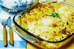 Pecados no prato: Lombos de pescada no forno com cobertura de pão pi...