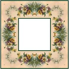 ArtbyJean - Paper Crafts: ---FRAMES - Square Scrapbook Frames, Paper Mache, Decoupage, Floral Wreath, Card Making, Paper Crafts, Clip Art, Prints, Cards