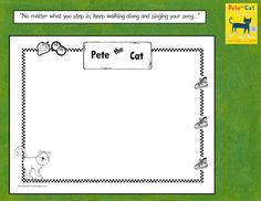 Pete the Cat Kindergarten Response Sheet
