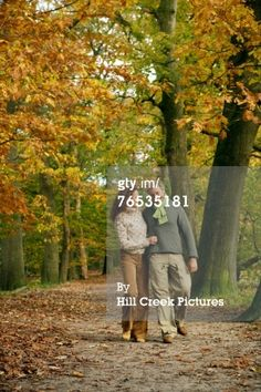 Stock Photo : Couple walking in the woods