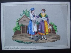 ORIGINAL 19th Century Hand painted BERLIN WOOLWORK PATTERN by G. E. FALBE   eBay