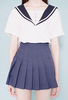 Sailor Collar Shirt http://mixxmix.us/product/Sailor-Collar-T-Shirt/29603/?cate_no=691&display_group=1