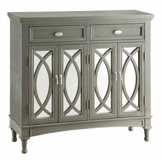 2-Drawer Park Avenue Mirror Cabinet with 4-Doors