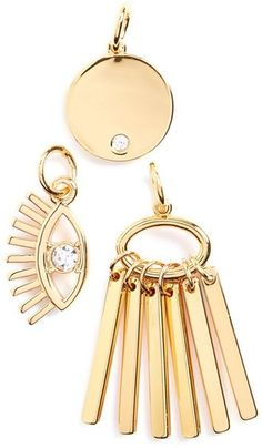 BaubleBar 'Lashed Out Weekend' Charms (Set of 3)