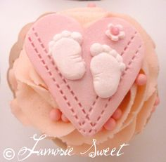 Edible Baby shower cupcake toppers by JamosieSweet on Etsy, $15.00