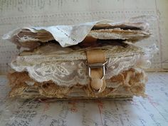 A great idea for a scrapbook, especially a vintage-inspired one. Keep your eye open for fun clasps like this garter.