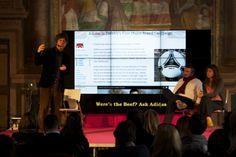 """Antonio Pavolini, Mafe De Baggis,  Filippo Pretolani nel talk """"Perché Tumblr ce l'ha fatta?"""" nella terza giornata giornata del Festival. Un approfondimento su questo social blog a confronto con i più noti siti di social networking."""