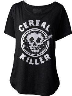 "Women's ""Cereal Killer"" Dolman Tee by Pyknic"