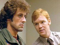 """The movie """"First Blood"""", directed by Ted Kotcheff. (Alternatively referred to as 'Rambo: First Blood'). David Caruso, Love Movie, Movie Tv, Silvester Stallone, 1980s Films, First Blood, Girls In Mini Skirts, My First Crush, Movies"""