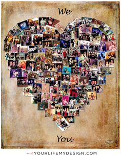 24x30 with 120 photos ❤ CollageDesign by http://yourlifemydesign.com/ #yourlifemydesign #photocollage #heartcollage #gift #giftideas #anniversary #homedecor #home #photography #collage #decor #decoration #walldecor