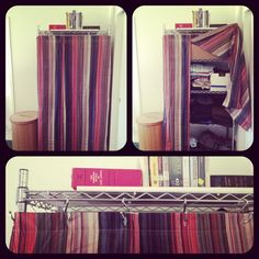 Shower curtain cut in half to hide storage - brillant.jpg
