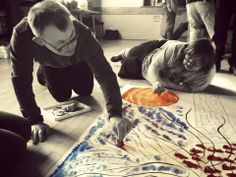 We're a creative bunch at Purple Patch Arts. Here we are working together to make some beautiful art.