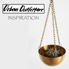 Would be pretty easy to diy- buy metal chain from a hardware store and drill holes in a cheap bowl. Urban Outfitters Plant Hanger inspiration.