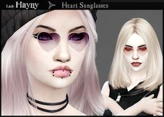 Heart Sunglasses by LadyHayny.