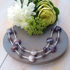Grey Agate and Silver Choker £119.00