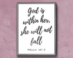 Items similar to Scripture Wall Art Psalm 46 5, Psalms, Fall Bible Verses, I Love The Lord, Bible Verse Wall Art, Christian Wall Art, Frame Display, Printable Wall Art