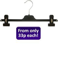 30cm Adjustable Clip Hanger Black