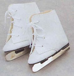 "Doll ice skates - They will fit American Girl Dolls and other 18"" dolls including Sew *ABLE Dolls."
