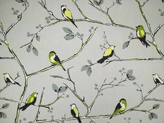 Prestigious Fabric Berkley Square lime cotton curtain fabric<br />We recommend a sample of this fabric if colour is important to you as colours on different screens may vary.