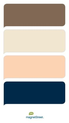 Latte, Champagne, Peach, and Navy Wedding Color Palette - custom color palette created at MagnetStreet.com