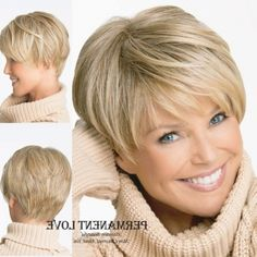 short haircuts for women over 50 front and back view Short Haircut Styles, Haircuts For Fine Hair, Short Pixie Haircuts, Cute Hairstyles For Short Hair, Straight Hairstyles, Long To Short Hair, Short Grey Hair, Short Hair With Layers, Short Hair Cuts For Women