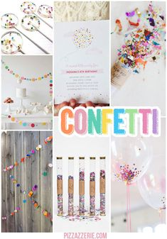 Confetti Party Ideas! #prettyperfectparty #party #prettyperfectliving #adorable