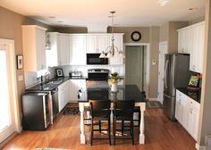Black & White Kitchen Redo | The Soulful House