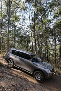 nissan patrol Y62 royale in forest
