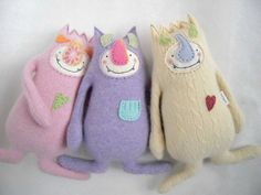 Stuffed Animal Monster from Cashmere Sweater by sweetpoppycat